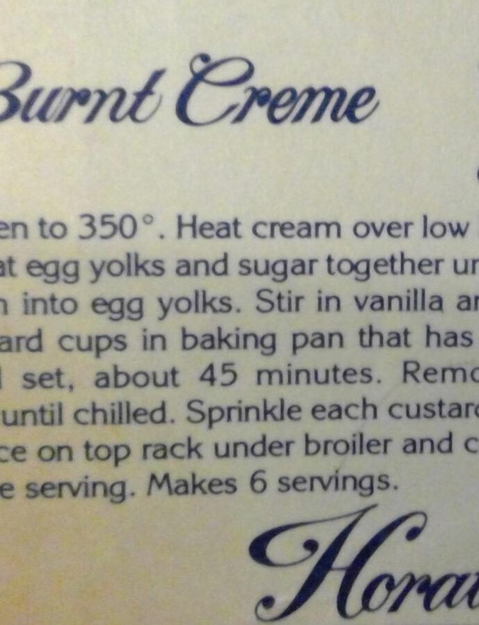Burnt Creme